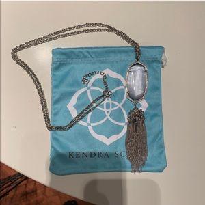 Kendra Scott silver slate Rayne necklace
